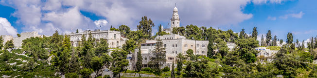 Israel, Jerusalem Dormition Abbey April 4, 2015 Lizenzfreie Stockbilder