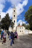 israel jerusalem - Februari 15 2017 Frälsare av uppstigningkloster av den ryska ortodoxa kyrkan i Jerusalem _ Arkivfoto