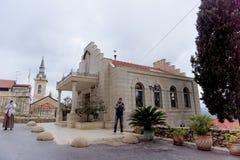 israel jerusalem - Februari 14 2017 Kyrkan shoppar i den Gorna kloster för kvinnor Fotografering för Bildbyråer