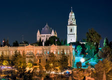 Israel, Jerusalem, Mount Zion night. Mount Zion is a Catholic monastery tomb of the Virgin Mary Royalty Free Stock Images