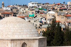 Israel, Jerusalem, Muslim quarter, Roofs Royalty Free Stock Photo