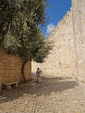 Israel, Jerusalem. Narrow Small Street In The Old City Stock Image