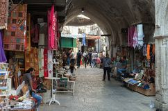 Old city bazaar. Royalty Free Stock Photography