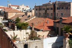 Israel, Jerusalem, Old City, Muslim quarter Roofs Stock Images