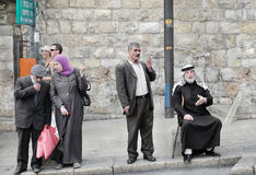 Israel, Jerusalem. The old town, the locals Royalty Free Stock Photography
