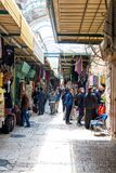 .Israel / Jerusalem - 02/08/2018: Oriental market in old Jerusalem offers variety of middle east products and souvenirs. Market is stock images