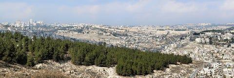 israel jerusalem panorama Royaltyfri Bild