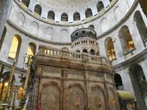 Israel, Jerusalem, the rotunda at the Church of the Holy Sepulchre stock image