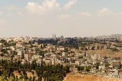 israel jerusalem sikt Arkivfoton