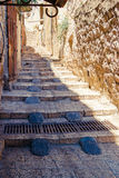 Israel, Jerusalem, stone streets. The tunnel with steps... Royalty Free Stock Photography