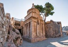 Israel, Jerusalem, Tomb of Absalom. Stock Image