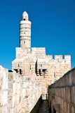 Israel, Jerusalem, Tower of David in the old city. Photo taken from the ramparts Stock Photo
