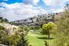 Israel Jerusalem Valley av Hinnom April 4, 2015 Arkivbilder