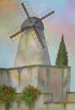 israel jerusalem windmill Royaltyfri Foto