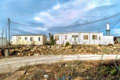 Israel Judea deserto 24 de outubro de 2015 Os colonos judaicos erigem ilegalmente uma existência nova no deserto do deserto do ju fotos de stock