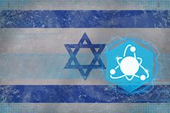 Israel kärnenergi Kärn- elektricitetsbegrepp Fotografering för Bildbyråer