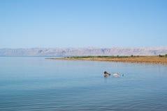 Israel-Küste Ansicht des Toten Meers Landschafts lizenzfreie stockbilder