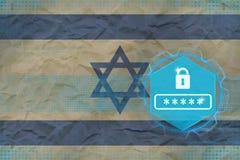 Israel lösenordskydd Digital skyddsbegrepp Royaltyfri Bild