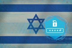 Israel lösenordskydd Netto säkerhetsbegrepp Arkivfoton