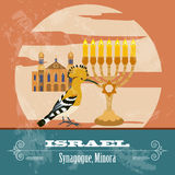 Israel landmarks. Retro styled image Royalty Free Stock Photos