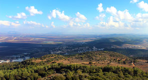 Israel landscape. Picturesque hills of Israel on sunny day Royalty Free Stock Images