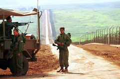 ISRAEL LEBANON BORDER Stock Photos