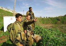 ISRAEL LIBANON GRÄNS Royaltyfri Foto