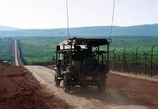 ISRAEL LIBANON GRÄNS Arkivbilder