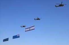Israel luftar den 60. oberoende dagen Show Arkivfoton