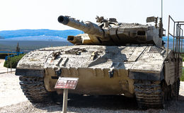 Israel made main battle tank Merkava  Mk III . Latrun, Israel Stock Photos