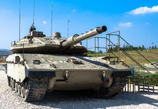 Israel made main battle tank Merkava  Mk IV.   Latrun, Israel Royalty Free Stock Photo