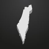 Israel map in gray on a black background 3d Stock Photo