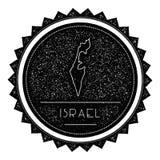 Israel Map Label met Retro Wijnoogst Gestileerd Ontwerp vector illustratie