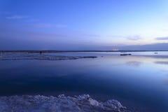 israel Mar inoperante alvorecer Fotografia de Stock