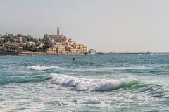 Israel, mar Mediterrâneo, Jaffa velho, St Peter imagens de stock
