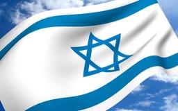 Israel-Markierungsfahnen Lizenzfreies Stockfoto