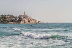 Israel, Mediterranean Sea, Old Jaffa, St. Peter's Stock Images