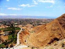 Israel mellersta öst, stad av Jericho, gammal stad royaltyfria foton