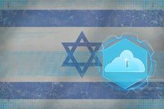 Israel molnlagring begreppet för oklarheten 3d framför säkerhet Arkivfoton