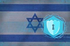Israel nätverkssäkerhet Datorsäkerhetsbegrepp Royaltyfri Fotografi