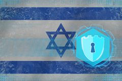 Israel nätverkssäkerhet Rengöringsdukförsvarbegrepp Royaltyfri Fotografi