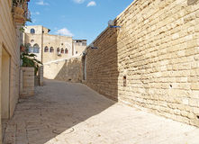 Israel. Narrow small street in ancient Yaffo Stock Photography