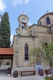 israel nazareth - Februari 17 2017 Grekisk ortodox kyrka av det första miraklet Royaltyfri Bild