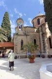 israel nazareth - Februari 17 2017 Grekisk ortodox kyrka av det första miraklet Fotografering för Bildbyråer