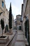 israel nazareth gammal gata Fotografering för Bildbyråer