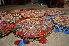 Israel, Negev, 2016 - Arab baskets with candy for guests a holiday  wedding or hina Stock Photo
