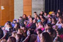 Israel, the Negev, Beer-Sheva - 2015Parents and children in the auditorium in the youth theater Stock Images