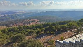 Israel. North green trees mountains Royalty Free Stock Image