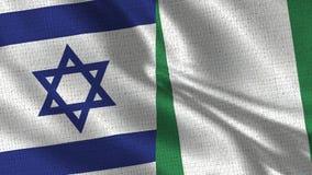 Israel och Nigeria flagga - två flaggor tillsammans royaltyfri fotografi