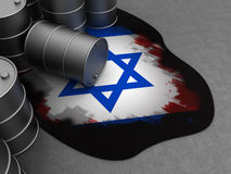 Israel and oil Royalty Free Stock Photos